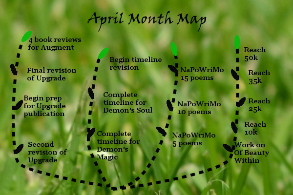 Ensign's Log, Entry 15: April Month Map and 2016 Writing Goals Update
