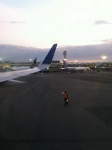 preparing for takeoff