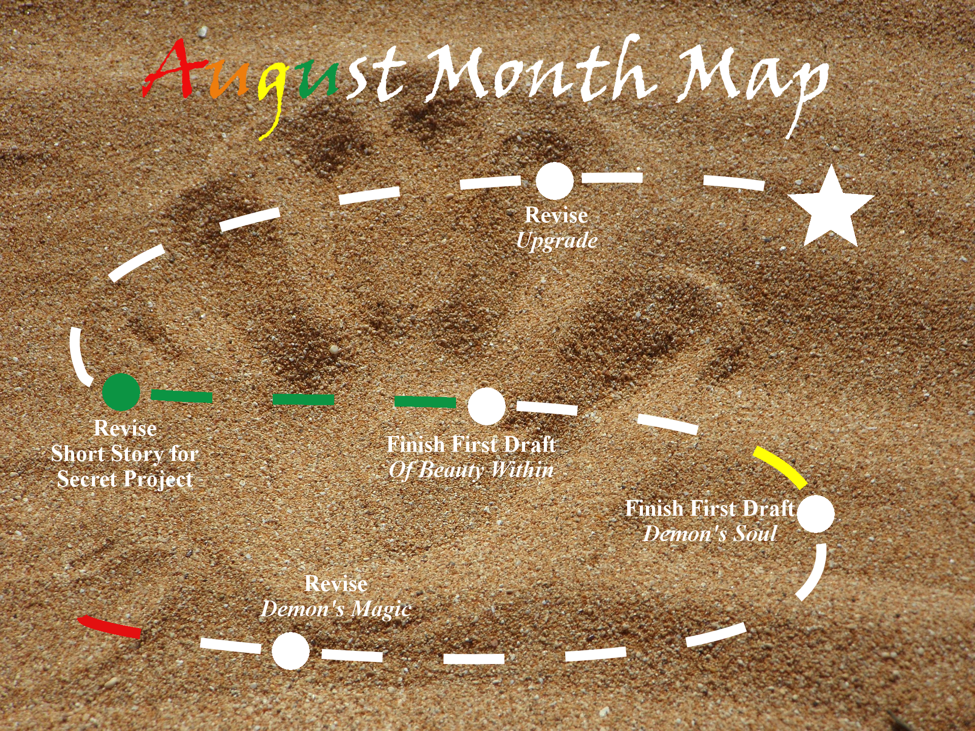 Ensign's Log, Entry 28: August Month Map–Week 1